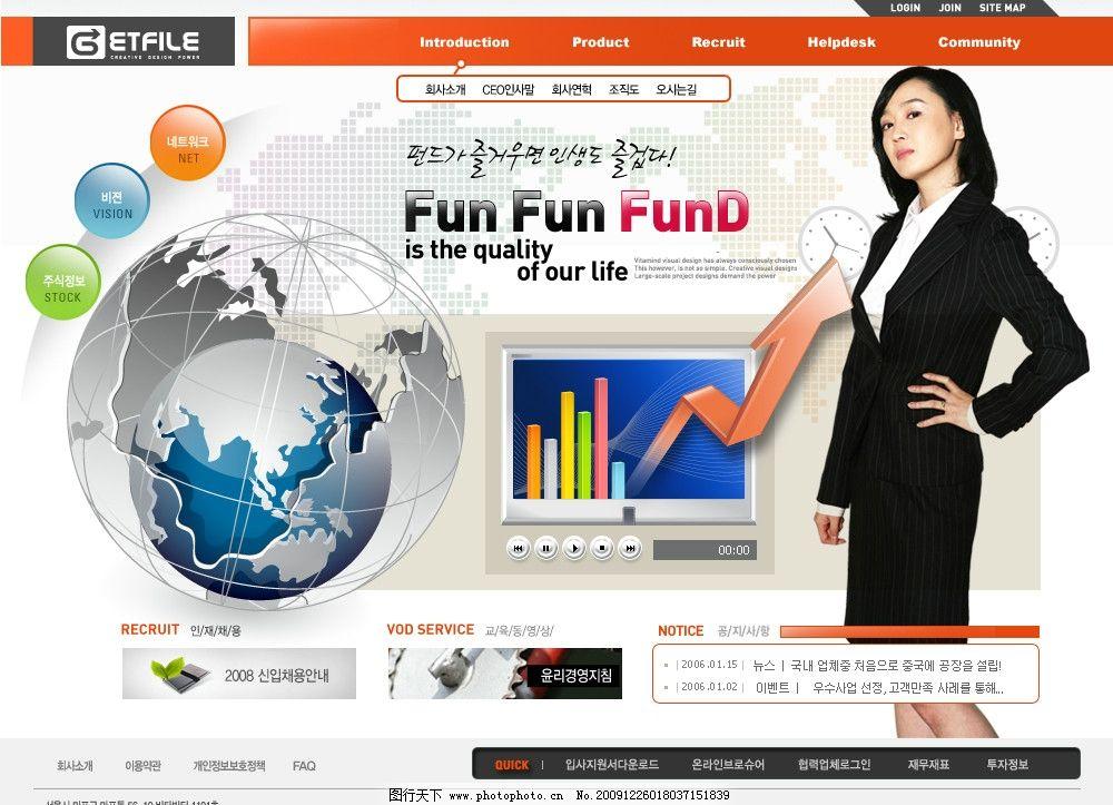 设计图库 淘宝电商 店招促销  网站 网页 韩国 模板 时尚 美观 商务