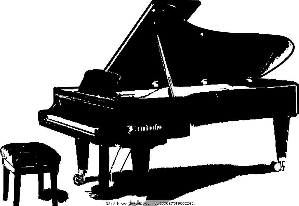 黑白矢量钢琴图片图片