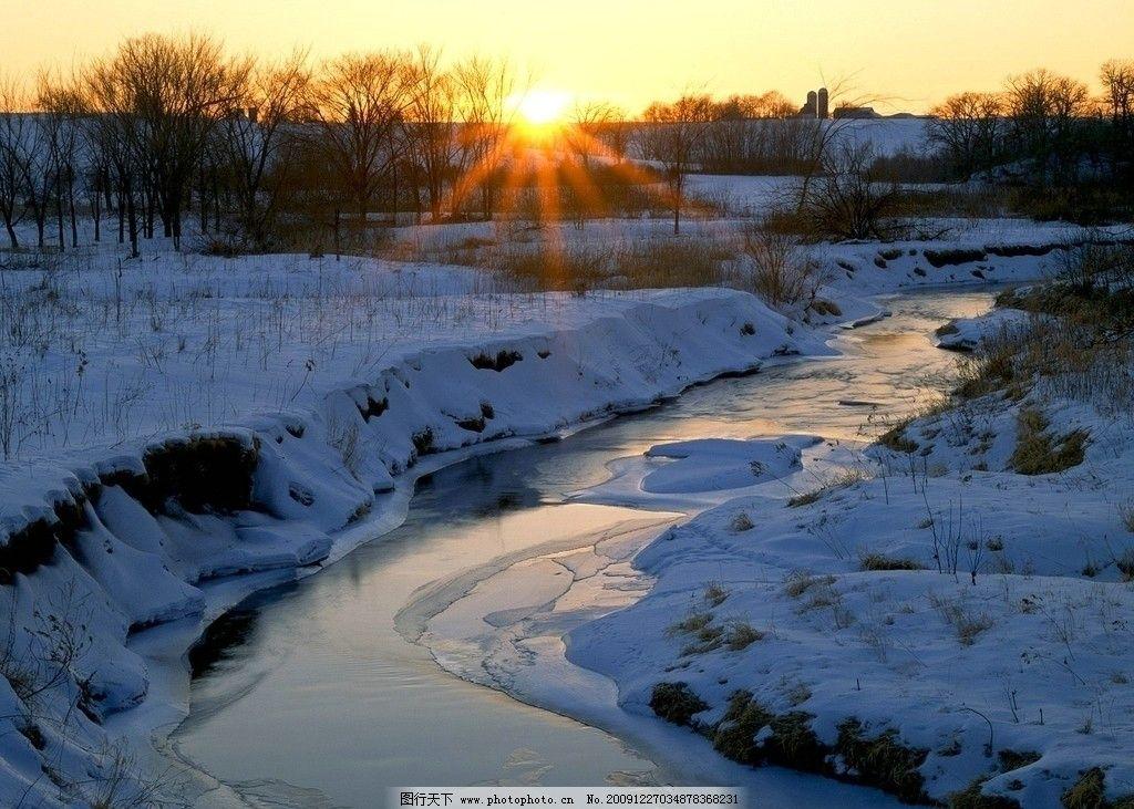 漂亮的雪景 下雪 冬天 大自然 风景 自然风景 自然景观 摄影