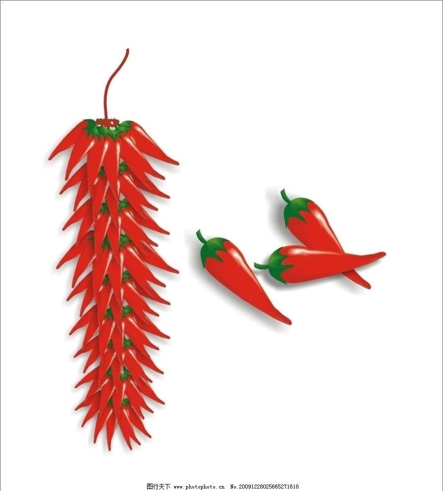 红辣椒 红红火火 春节 红色 中国风 矢量