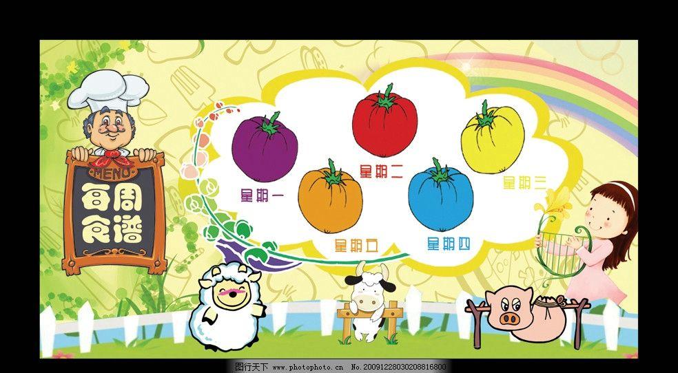 幼儿园宣传栏图片_展板模板