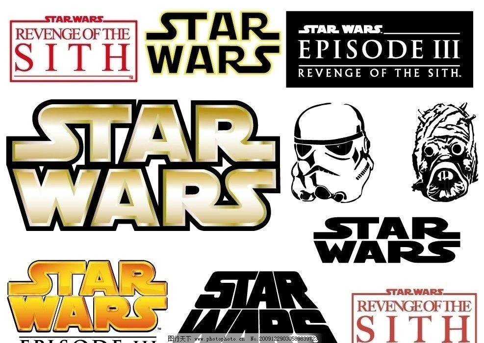 星球大战矢量logo及应用图片
