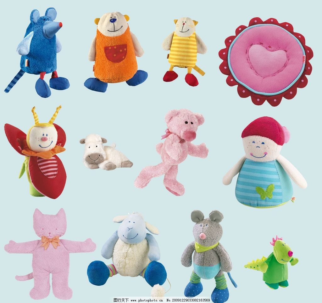 可爱的动物玩具图片_其他