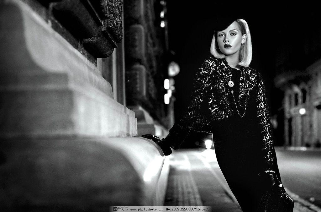欧洲黑白艺术1 欧洲时尚模特