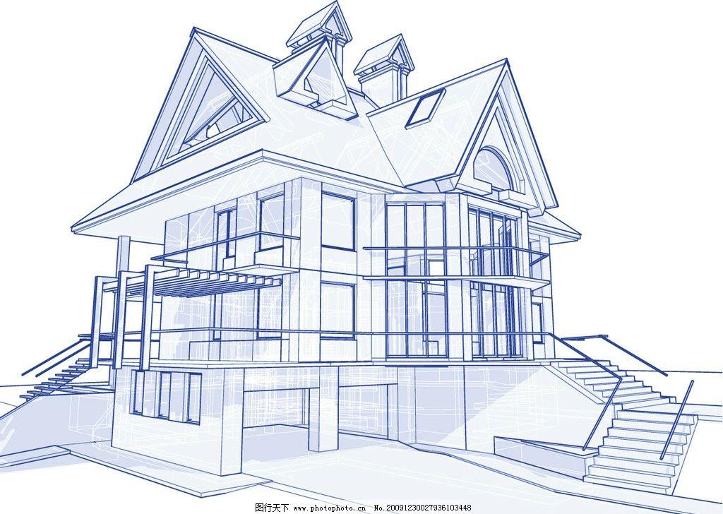 平面设计蓝图 设计 蓝图 平面 建筑 房子 透视 3d 线条 住 室内设计