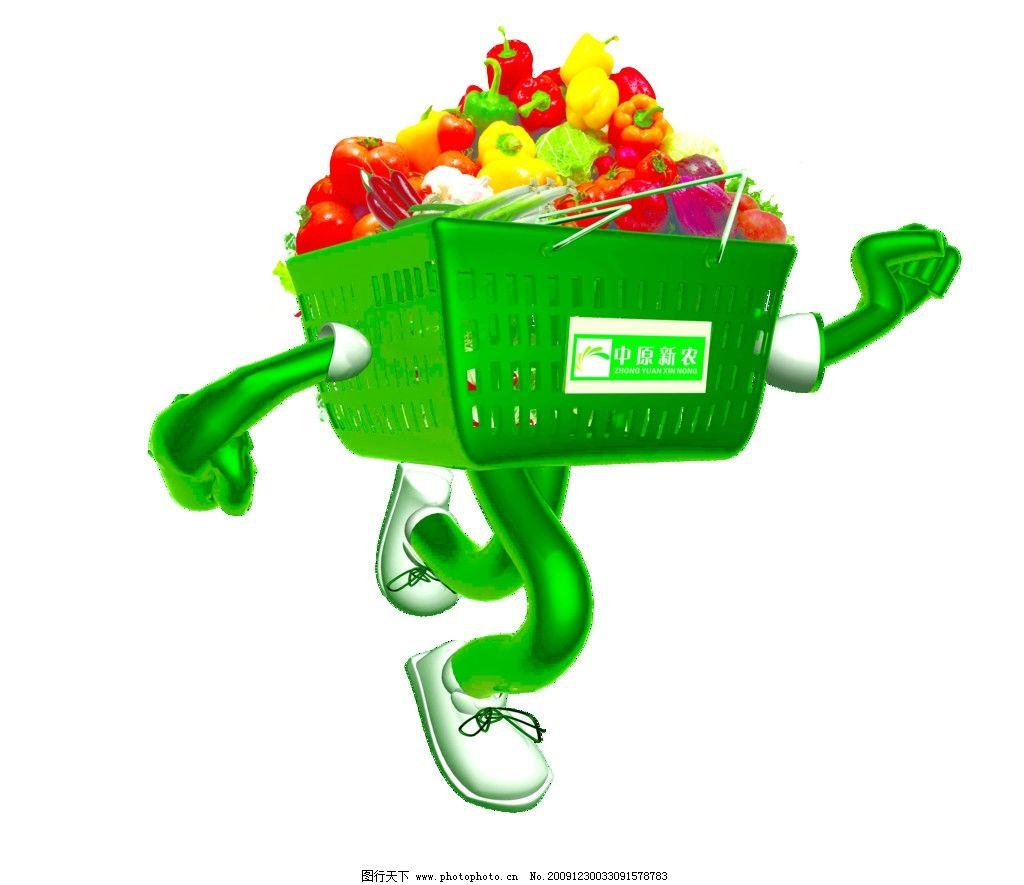 超市菜蓝超人扣好的分层 超市 菜蓝 超人 蔬菜 跑步 绿色 菜筐 卡通