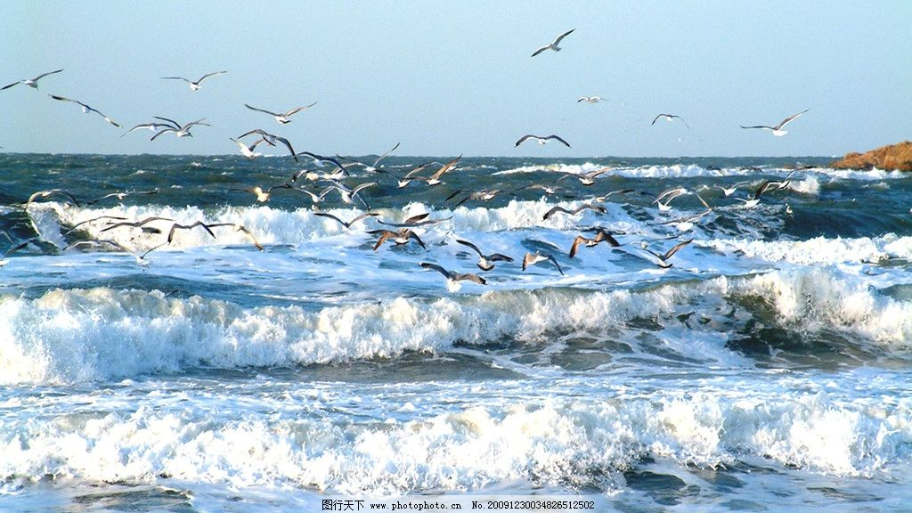 大海浪花简笔画 步骤