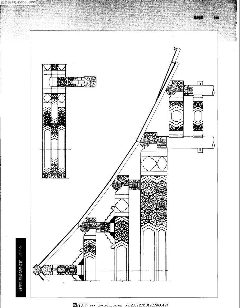 建筑彩画74 中国建筑彩画 建筑画 古建筑 牌楼彩画 牌坊 木结构