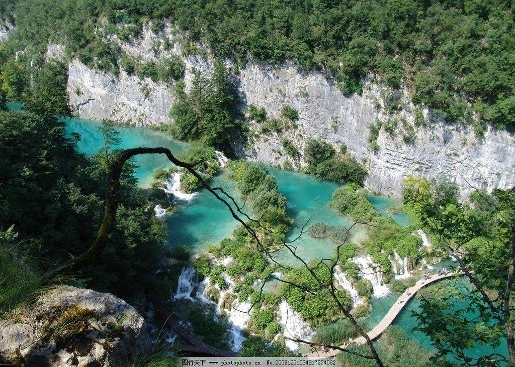十六湖国家公园 湖泊 森林 河流 瀑布 自然风景 自然景观 摄影