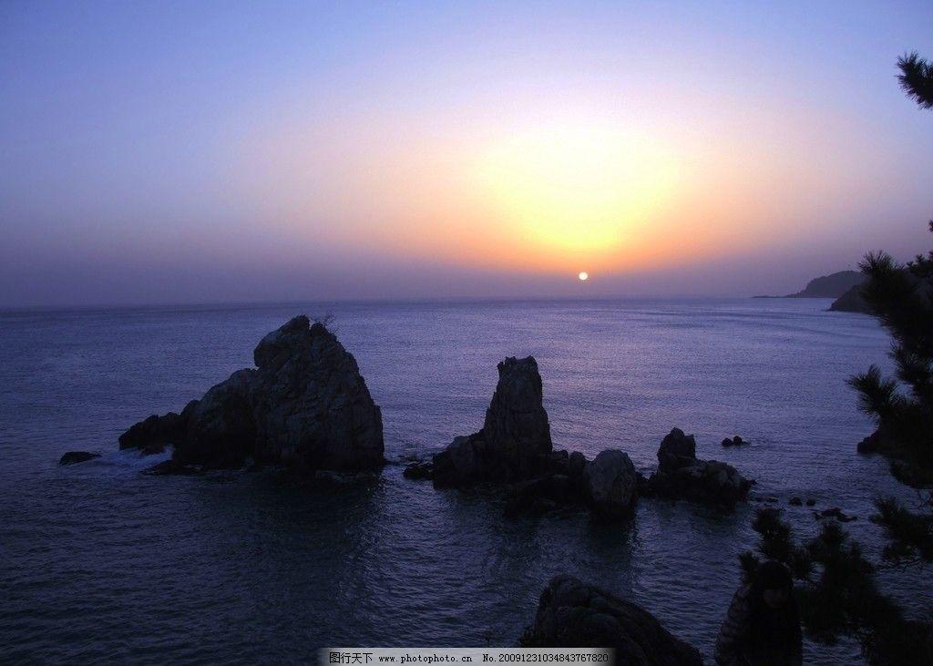 海上日出 大海 海边 沙滩 太阳 日出 自然风景 自然景观 摄影 72dpi