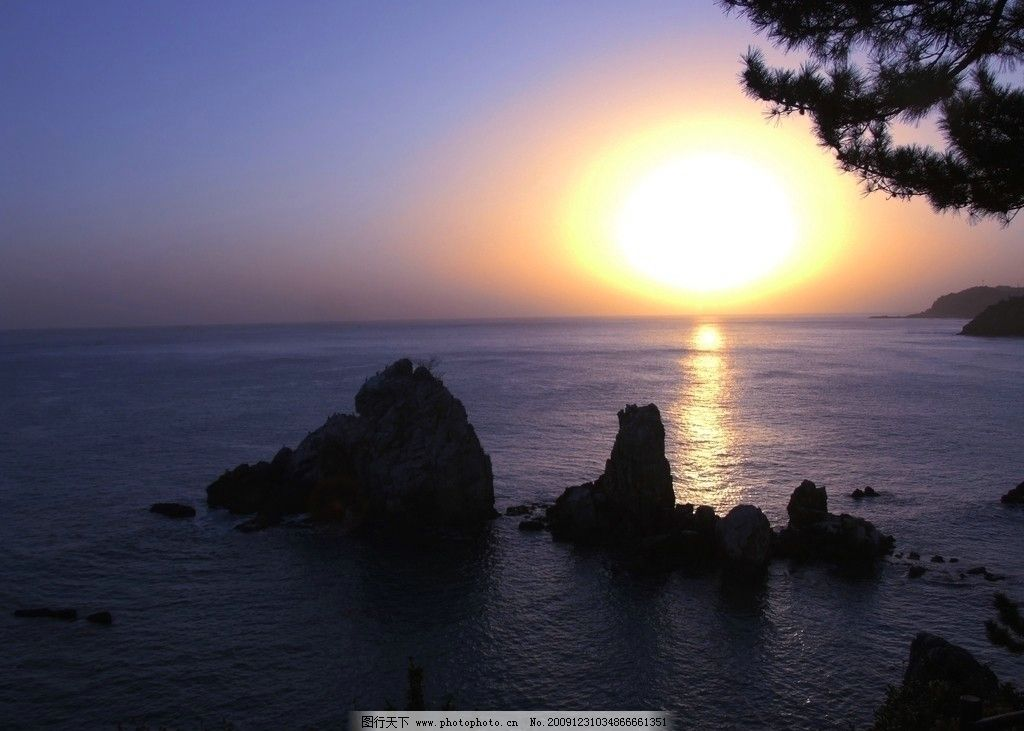 日出 大海 海边 沙滩 太阳 自然风景 自然景观 摄影 72dpi jpg