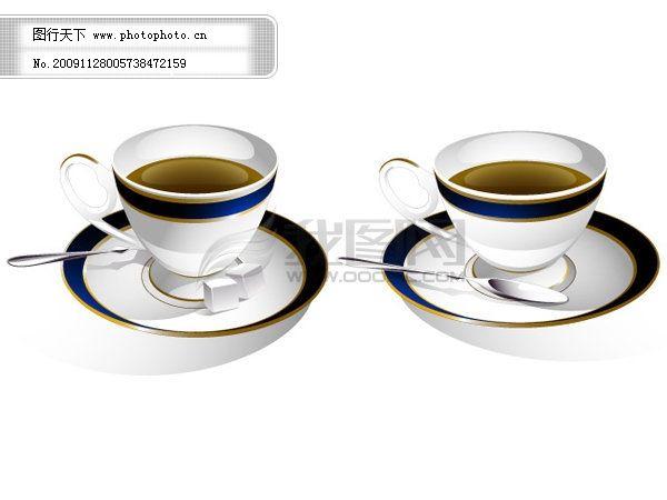 咖啡杯矢量免费下载,杯子,咖啡杯矢量素材,勺子,方糖,矢量图,日常生活